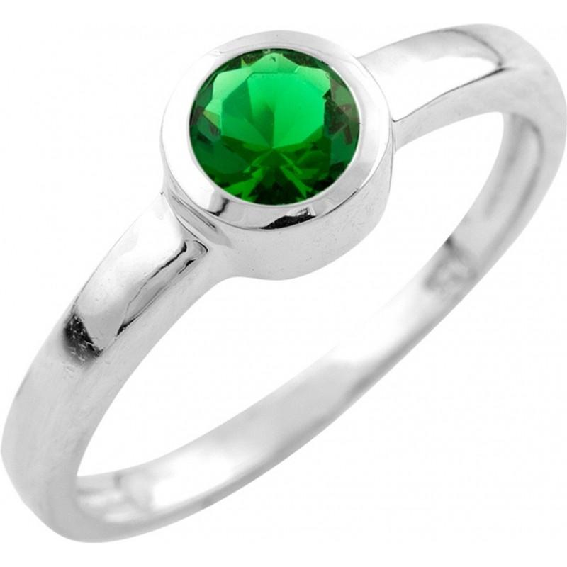 Серебряное кольцо SilverBreeze с изумрудом nano (0917696) 17 размер