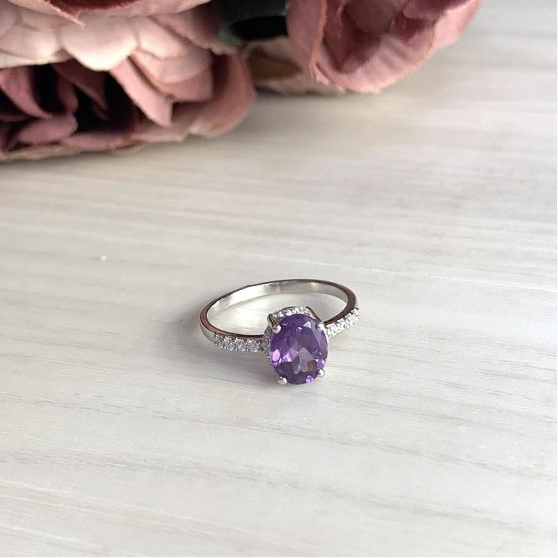Серебряное кольцо SilverBreeze с олександритом (1649572) 18 размер