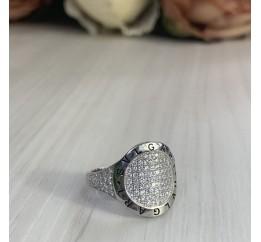 Серебряное кольцо SilverBreeze с фианитами (2000020) 17 размер