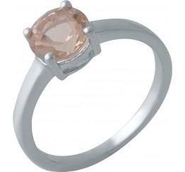 Серебряное кольцо SilverBreeze с морганитом nano (2003656) 18.5 размер