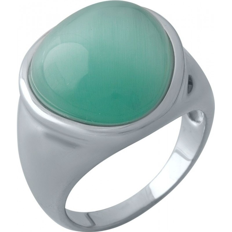 Серебряное кольцо SilverBreeze с кошачим глазом (1974490) 18 размер