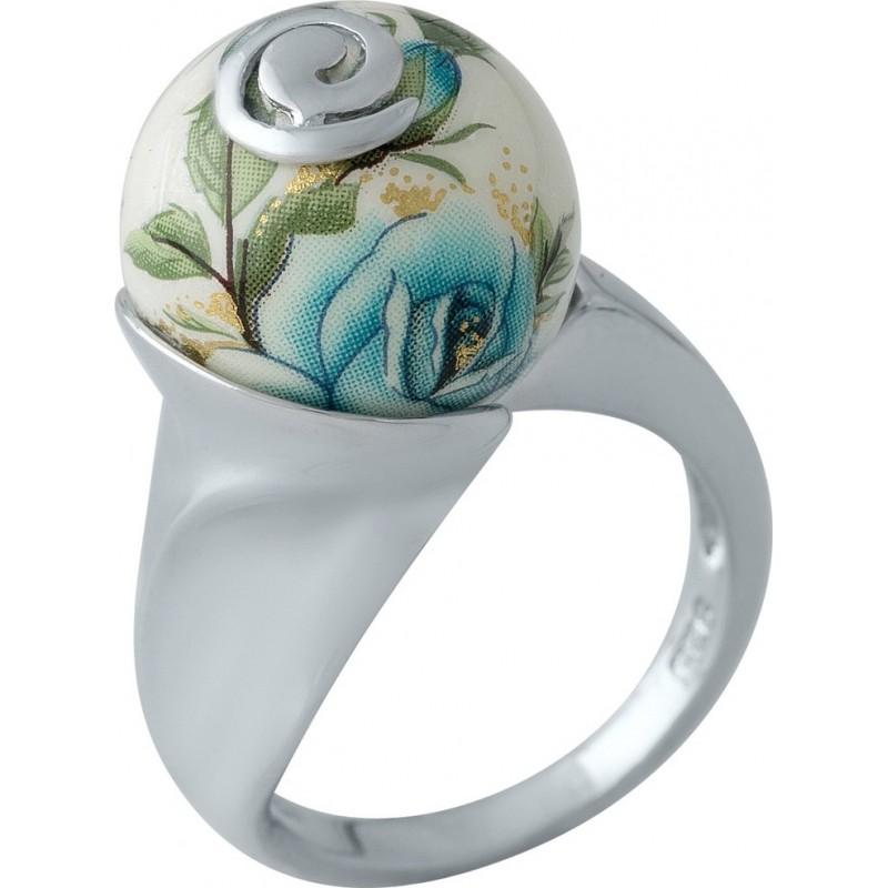 Серебряное кольцо SilverBreeze с емаллю (2003823) 17 размер