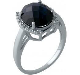 Серебряное кольцо SilverBreeze с сапфиром nano (2006954) 18 размер