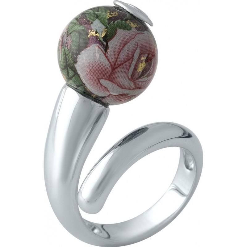 Серебряное кольцо SilverBreeze с емаллю (2003953) 17.5 размер
