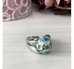 Серебряное кольцо SilverBreeze с емаллю (2004080) 17.5 размер