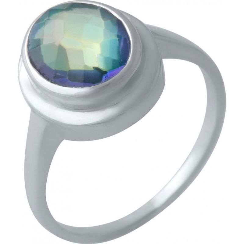 Серебряное кольцо SilverBreeze с натуральным мистик топазом (2004295) 17 размер