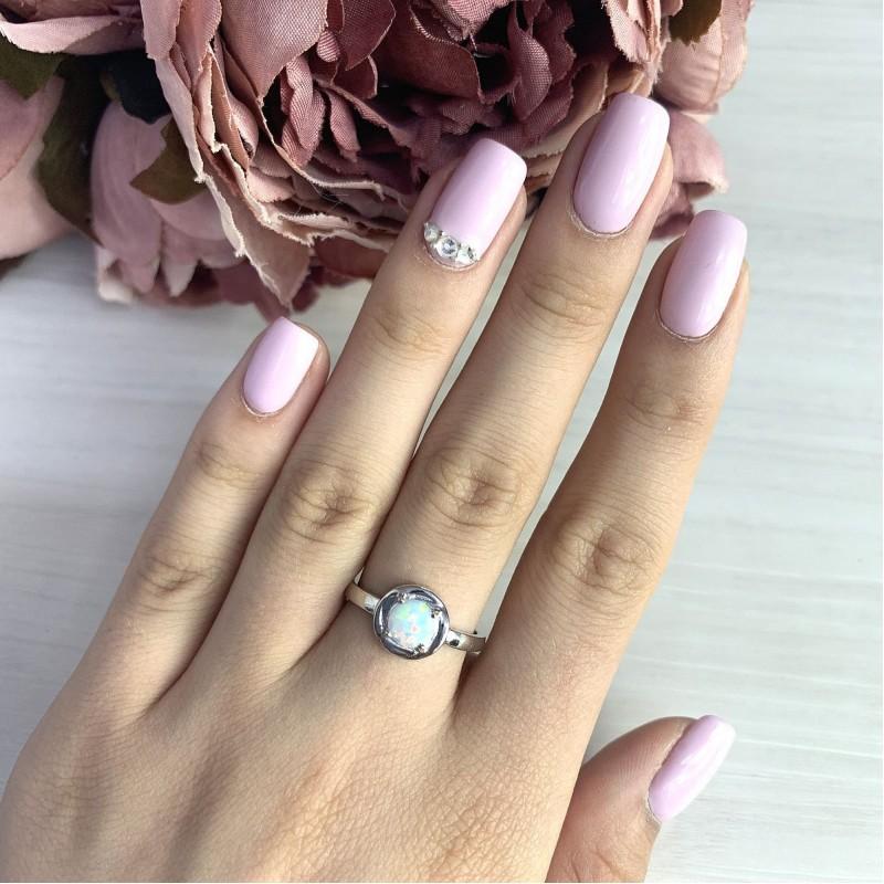 Серебряное кольцо SilverBreeze с опалом (2020264) 18.5 размер