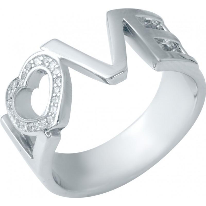 Серебряное кольцо SilverBreeze с фианитами (1941218) 19 размер