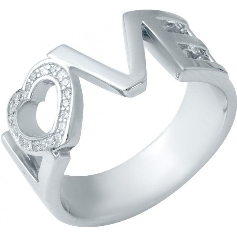Серебряное кольцо SilverBreeze с фианитами (1941218) 18 размер