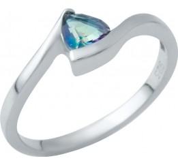 Серебряное кольцо SilverBreeze с натуральным мистик топазом (1949481) 17 размер