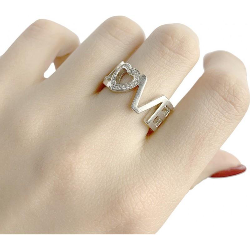 Серебряное кольцо SilverBreeze с фианитами (1941218) 18.5 размер