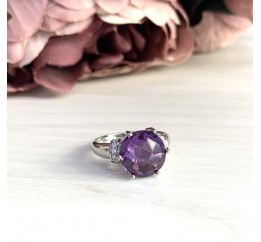 Серебряное кольцо SilverBreeze с олександритом (1964200) 18.5 размер