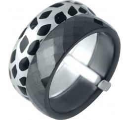 Серебряное кольцо SilverBreeze с керамикой, емаллю (1978054) 17.5 размер