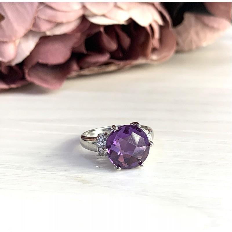 Серебряное кольцо SilverBreeze с олександритом (1964200) 17.5 размер