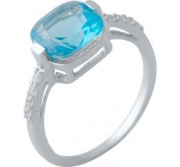 Серебряное кольцо SilverBreeze с аквамарином nano (2016786) 18.5 размер