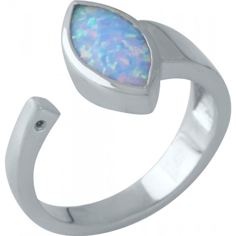 Серебряное кольцо SilverBreeze с опалом (1960622) 18 размер