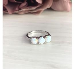Серебряное кольцо SilverBreeze с опалом (2018520) 18 размер