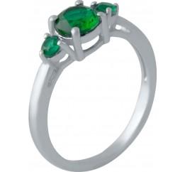 Серебряное кольцо SilverBreeze с изумрудом nano (2013068) 17.5 размер