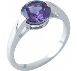 Серебряное кольцо SilverBreeze с олександритом (1964224) 18.5 размер