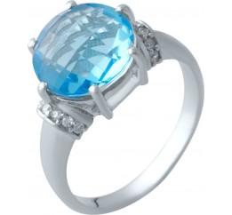 Серебряное кольцо SilverBreeze с аквамарином nano (2016823) 18 размер