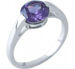 Серебряное кольцо SilverBreeze с олександритом (1964224) 17.5 размер