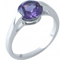 Серебряное кольцо SilverBreeze с олександритом (1964224) 17 размер