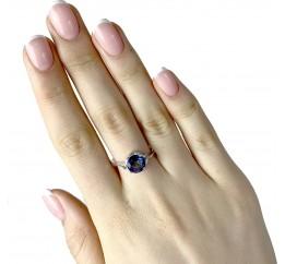 Серебряное кольцо SilverBreeze с натуральным мистик топазом (1960905) 18.5 размер