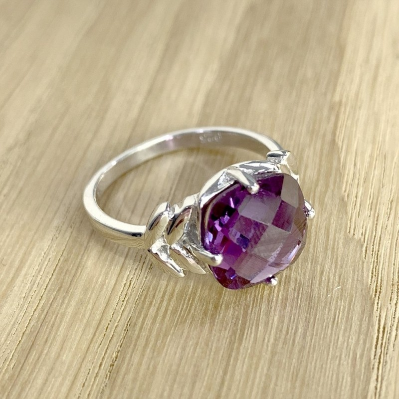 Серебряное кольцо SilverBreeze с олександритом (1994436) 18.5 размер