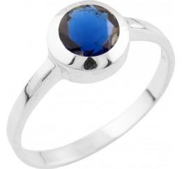 Серебряное кольцо SilverBreeze с сапфиром nano (1509791) 17.5 размер