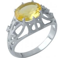 Серебряное кольцо SilverBreeze с цитрином nano (1970744) 19 размер