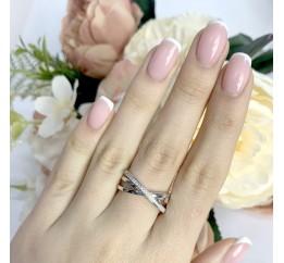 Серебряное кольцо SilverBreeze с фианитами (1941263) 17.5 размер