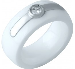 Серебряное кольцо SilverBreeze с керамикой (1978108) 17.5 размер
