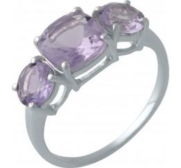 Серебряное кольцо SilverBreeze с натуральным аметистом (2007197) 18.5 размер