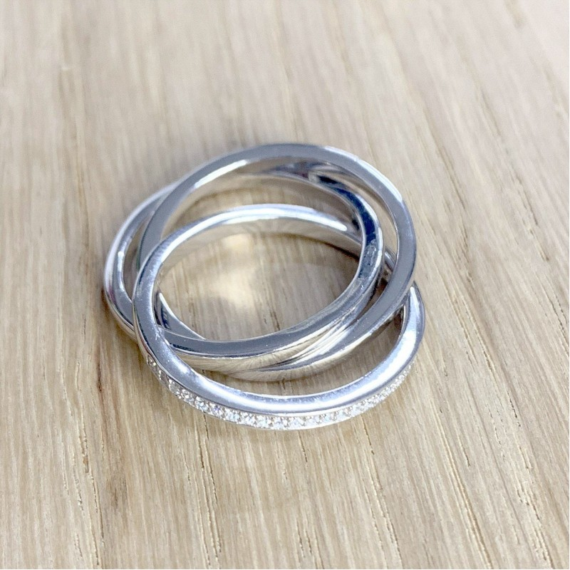 Серебряное кольцо SilverBreeze с фианитами (1941263) 16.5 размер