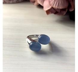 Серебряное кольцо SilverBreeze с кошачим глазом (2002550) 17 размер