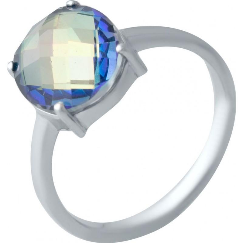 Серебряное кольцо SilverBreeze с натуральным мистик топазом (1988343) 18 размер