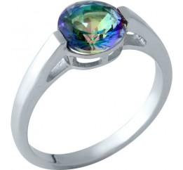 Серебряное кольцо SilverBreeze с натуральным мистик топазом (1961001) 18 размер