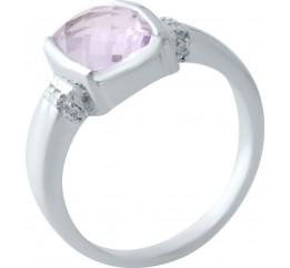Серебряное кольцо SilverBreeze с натуральным аметистом (2020578) 18.5 размер
