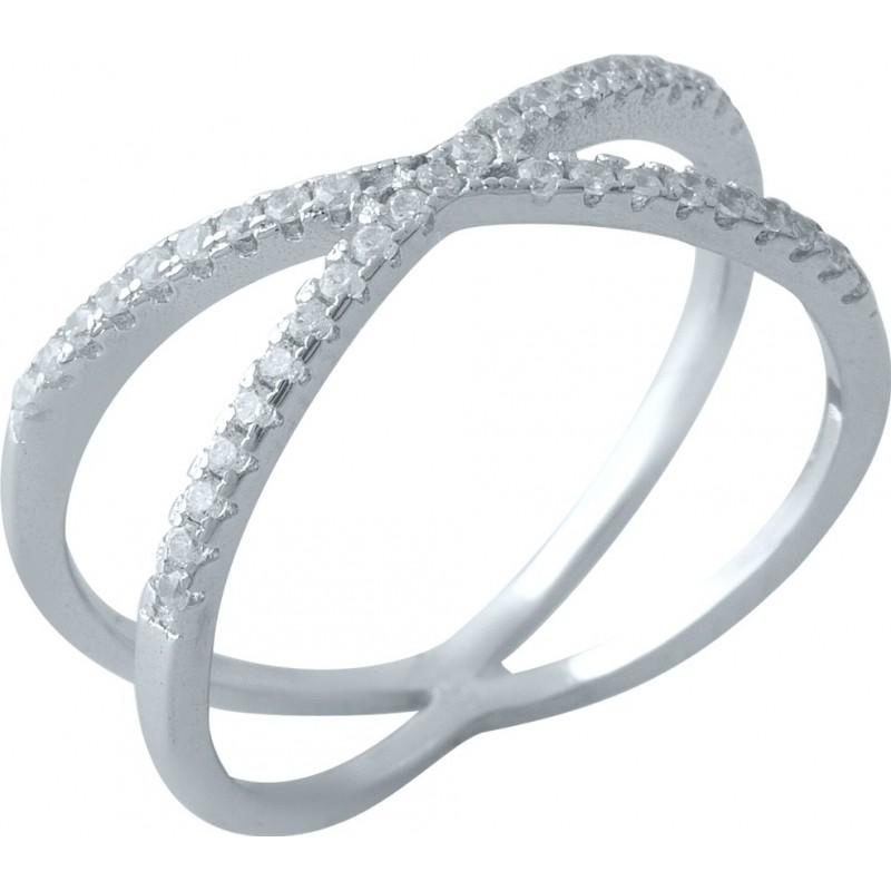 Серебряное кольцо SilverBreeze с фианитами (1974957) 17 размер