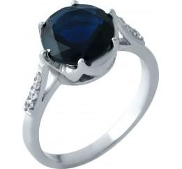 Серебряное кольцо SilverBreeze с сапфиром nano (1964644) 18 размер