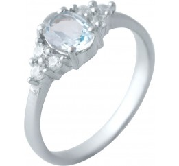 Серебряное кольцо SilverBreeze с натуральным топазом (2018599) 17.5 размер
