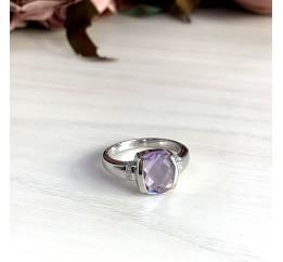 Серебряное кольцо SilverBreeze с натуральным аметистом (2020578) 17.5 размер