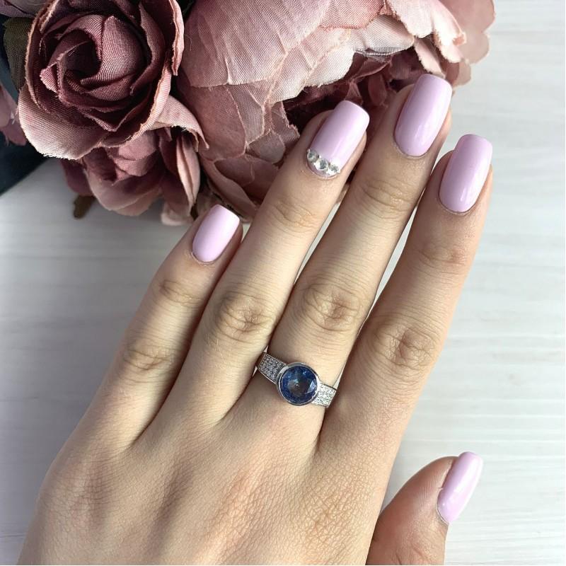 Серебряное кольцо SilverBreeze с натуральным мистик топазом (1937471) 17.5 размер