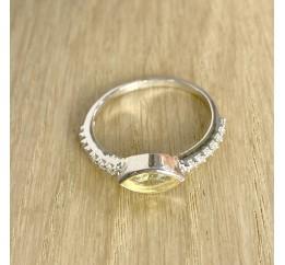 Серебряное кольцо SilverBreeze с цитрином nano (1970805) 18.5 размер