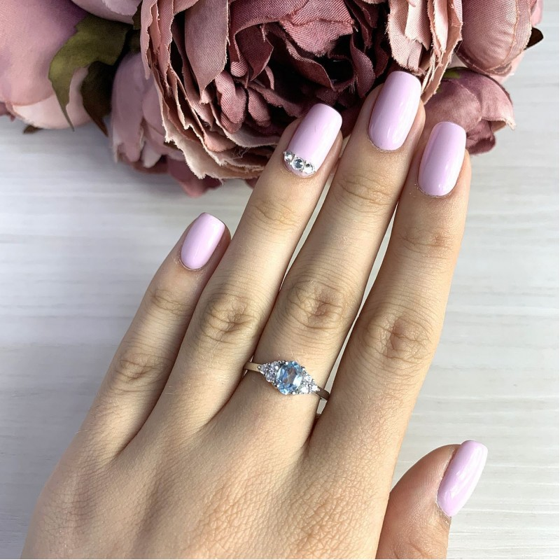 Серебряное кольцо SilverBreeze с натуральным топазом (2018599) 16.5 размер
