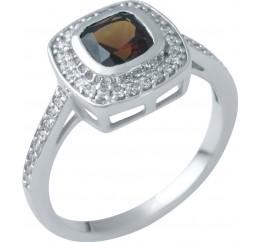 Серебряное кольцо SilverBreeze с натуральным гранатом (1945742) 18.5 размер