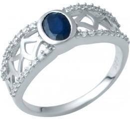 Серебряное кольцо SilverBreeze с натуральным сапфиром (1946886) 17.5 размер