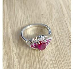 Серебряное кольцо SilverBreeze с натуральным рубином (1947005) 17 размер