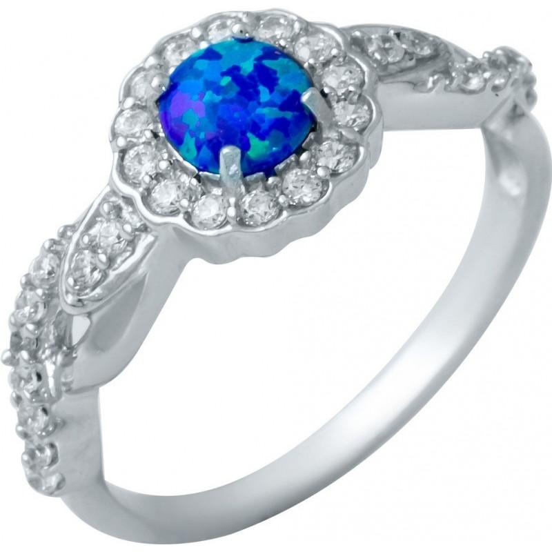 Серебряное кольцо SilverBreeze с опалом (1948217) 18.5 размер