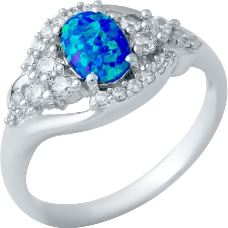 Серебряное кольцо SilverBreeze с опалом (1948347) 18 размер